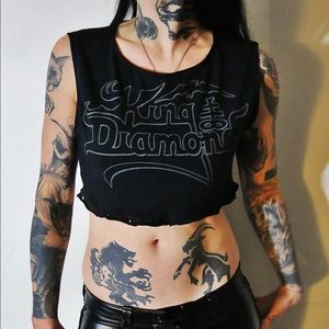 King Diamond Crop Top